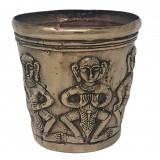 ETHNIK HAND MADE BRONZ POT