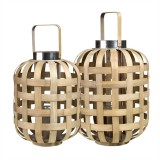 NATURAL BAMBOO LANTERN    - CANDLE HOLDERS