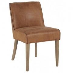 Chair Pornic Caramel Cuir