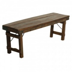 GOA MARKET FOLDING BENCH BROWN   - BENCHES