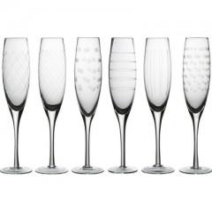 CHAMPAGNE GLASS CUTTINGS 6 PCS. SET