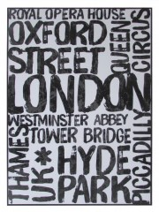 LONDON CANVAS PHOTO FRAME