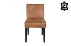 RD RECYCLE LEATHER DINING CHAIR COGNAC