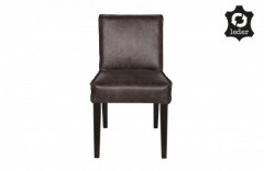 RD RECYCLE LEATHER DINING CHAIR BLACK