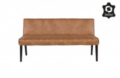 RD RECYCLE LEATHER DINNER BENCH COGNAC