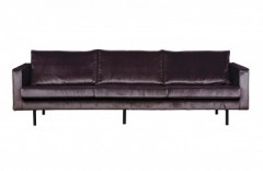 RD VELVET SOFA 3 SEATER GREY - MODERN SOFA