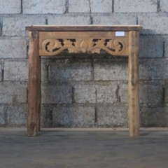 TEAK CARVED CONSOL TABLE