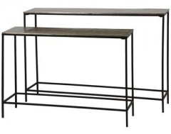 CONSOLE TABLE FILIGREE METAL BRONZE 2 SIZES