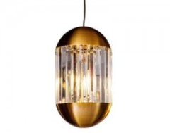 HANINGLAMP GOLD CLEAR GLASS