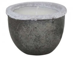 POT DECO WITH CANDLE CANEJA BLACK