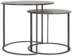 METAL SIDETABLE SET OF 2 COLOR BLACK