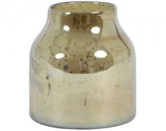 VASE SONALA GLASS STONE FINISH AMBER      - POTS, VASES, PLATES