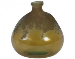 VASE SELORES GLASS MATTED BROWN CLEAR BROWN