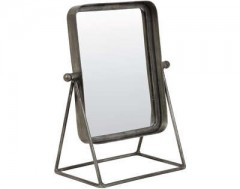 MIRROR TAPOE ANTIQUE ZINC SQR