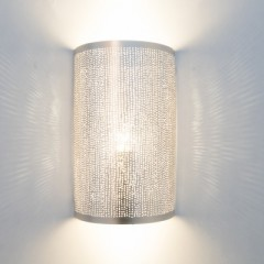 WALL LAMP CYLINDER BRASS SILVER PLATED 30