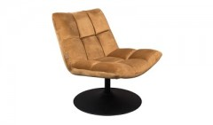 LOUNGE CHAIR BAR VELVET GOLDEN BROWN    - CHAIRS, STOOLS
