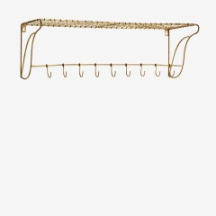 SHELF WITH HOOKS