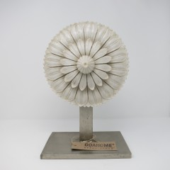 INDIAN MARBLE FLOWER ON STAND