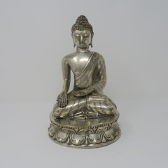 SITTING BUDDHA SILVER COLORED