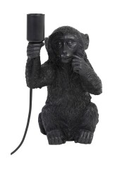 TABLE LAMP MONKEY BLACK     - TABLE LAMPS