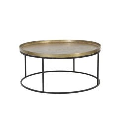 COFFEE TABLE RAW ANTIQUE BRONZE AND MATT BLACK