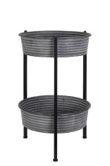 SIDE TABLE ARC ZINC