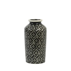 VASE BLACK AND WHITE PRINTED 30      - POTS, VASES, PLATES