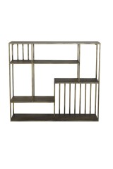 WALL METAL SHELF ANTIQUE GOLD 90