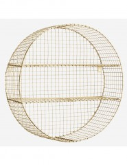 SHELF ROUND ANTIQ BRASS WIRE
