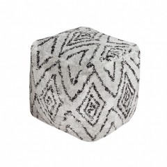POUF BERBER BLACK AND WHITE