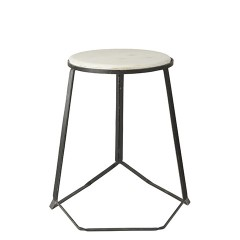 MARBLE TOP STOOL BLACK