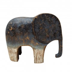 WOOD ELEPHANT BLUE MEDIUM