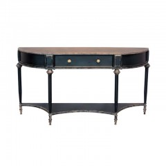 BLACK CONSOLE TABLE EDU WITH DRAWER