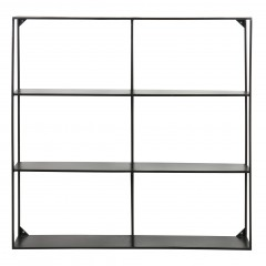 METAL WALL SHELF BLACK - CABINETS, SHELVES