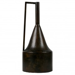 VASE HOME METAL DARK BROWN