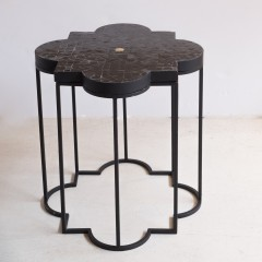 MOROCCAN MOSAIC SIDETABLE BLACK 45     - CAFE, SIDE TABLES