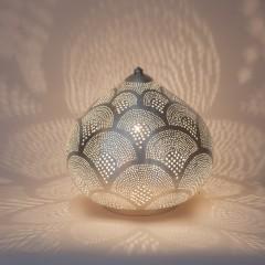 TABLE LAMP HARID FAN SMALL SILVER