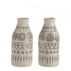 G MAMA VASE ETHNIC WHITE CERAMIC