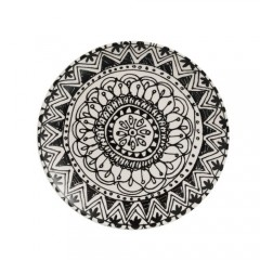 PLATE BOHO BLACK AND WHITE CERAMIC