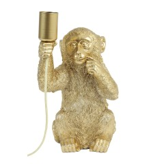 TABLE LAMP MONKEY GOLD     - TABLE LAMPS