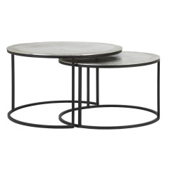 CAFE TABLE TLC SILVER METAL 2 SIZES