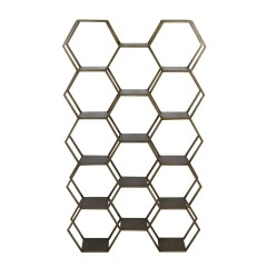 HEXAGON14 BRASS SHELF - CABINETS, SHELVES
