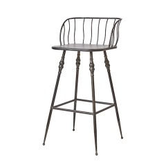BARCHAIR GREY IRON PROVENCE 70