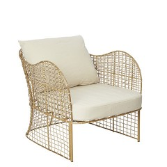 LOOSE RATTAN ARMCHAIR WITH CUSHION