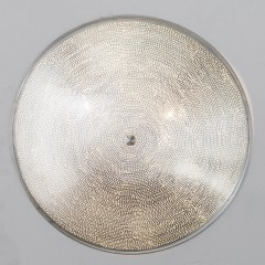 CEILING LAMP FLSK BRASS SILVER PLATED 60   - WALL LAMPS