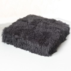 CUSHION TIBETIAN BLACK 80