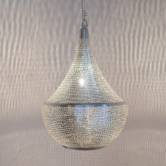 HANGING LAMP BLL FLSK BRASS SILVER PLATED 45      - HANGING LAMPS