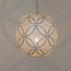HANGING LAMP CRC BRASS SILVER PLATED 30