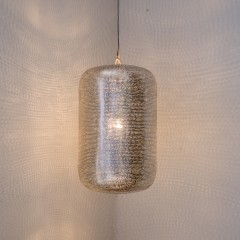 HANGING LAMP LMP FLSK BRASS SILVER PLATED 40      - HANGING LAMPS