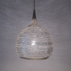 HANGING LAMP MST FLSK BRASS SILVER PLATED 35